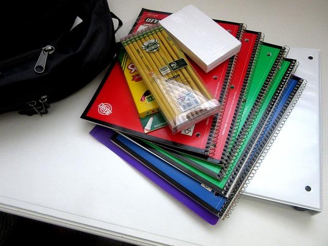 školní potřeby a batoh