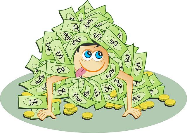 zavalený penězi
